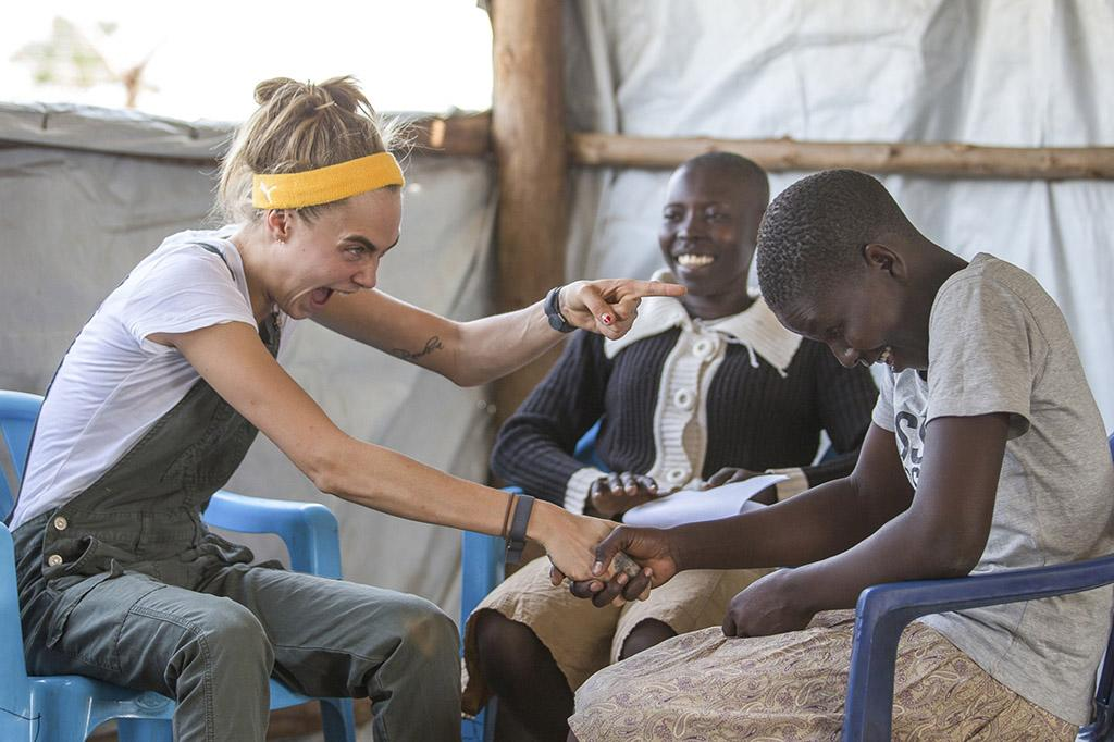 "<p>During a trip to Uganda with the United Nation's Girl Up campaign to promote the health, safety, education, and leadership of girls in developing countries, Cara Delevingne met with people who have fled South Sudan. ""It's been one of the most incredible weeks of my entire life,"" she <a rel=""nofollow"" href=""https://www.instagram.com/p/BPKjyQ_FGEd/?taken-by=caradelevingne&hl=en"">shared</a> on Instagram. (Photo: AKM-GSI) </p>"
