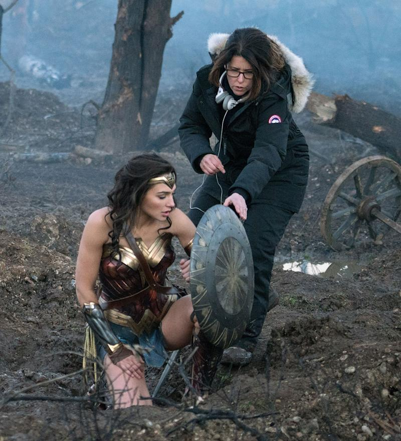 Gal Gadot and Patty Jenkins on the 'Wonder Woman' set (Warner Bros.)