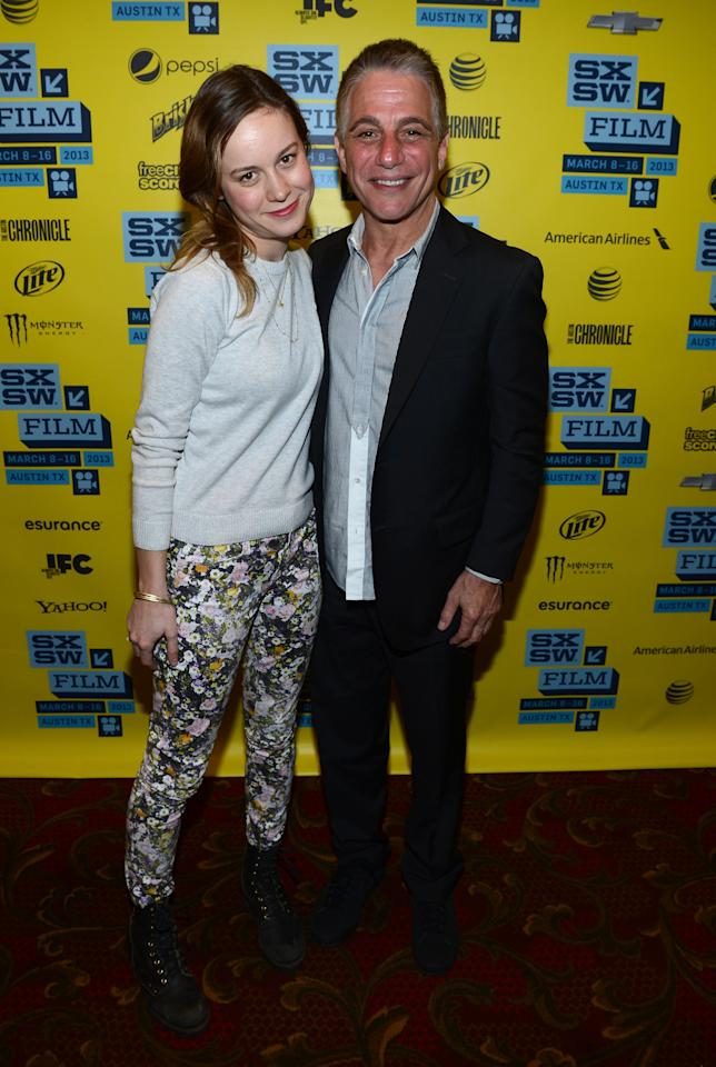 "AUSTIN, TX - MARCH 11:  Actress Brie Larson (L) and actor Tony Danza attend the Green Room Photo Op for ""Don Jon's Addiction"" during the 2013 SXSW Music, Film + Interactive Festival at the Paramount Theatre on March 11, 2013 in Austin, Texas.  (Photo by Michael Buckner/Getty Images for SXSW)"