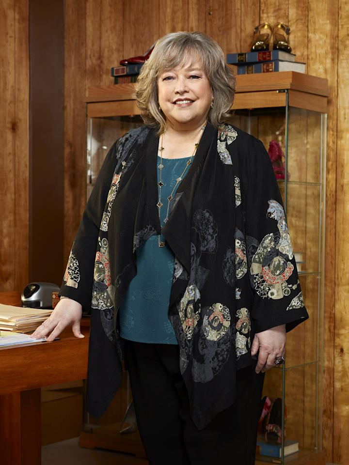 "Kathy Bates (""Harry's Law"") is nominated for Outstanding Lead Actress in a Drama Series."