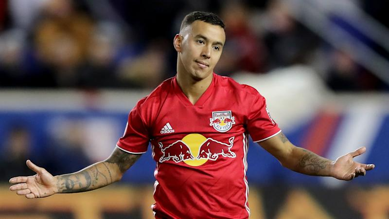 Red Bulls star Kaku sent off for kicking ball at fan in draw with Sporting KC
