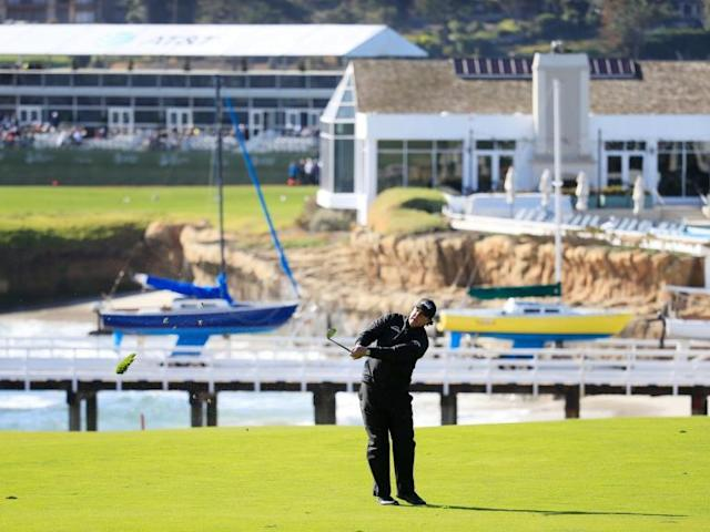 Pebble Beach Pro-Am: Phil Mickelson forced to wait as he takes three-shot lead into delayed fifth day