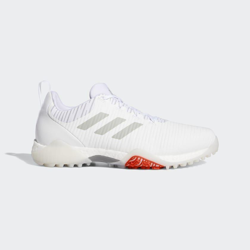 """<p><strong>adidas</strong></p><p>adidas.com</p><p><a href=""""https://go.redirectingat.com?id=74968X1596630&url=https%3A%2F%2Fwww.adidas.com%2Fus%2Fcodechaos-golf-shoes%2FEE9102.html&sref=https%3A%2F%2Fwww.menshealth.com%2Fstyle%2Fg32628591%2Fadidas-memorial-day-sneaker-sale%2F"""" rel=""""nofollow noopener"""" target=""""_blank"""" data-ylk=""""slk:BUY IT HERE"""" class=""""link rapid-noclick-resp"""">BUY IT HERE</a></p><p><del>$150<br></del><strong>$135</strong></p><p>Golfing is one of those activities that might actually have some availability this summer, and it's worth celebrating with a fresh pair of shoes to go with. These are light, spikeless, and stylish. </p>"""