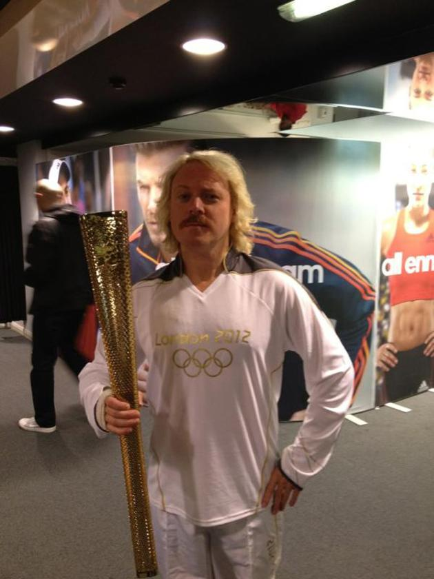 Celebrity photos: After Jedward got their mitts on the Olympic torch, we were wondering which celebrity would be next. It turns out it was Keith Lemon, with the comedian posting this proud picture of him with the torch on Twitter. Copyright [Keith Lemon]
