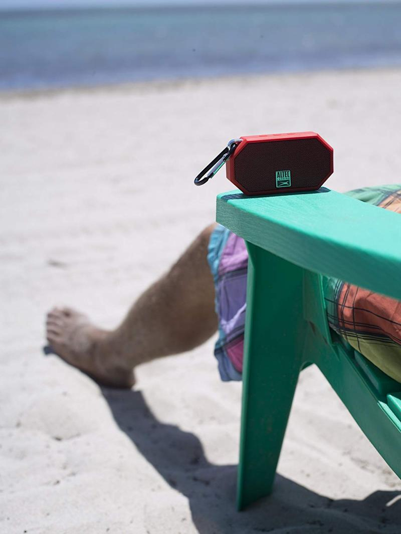 Waterproof and shockproof, this speaker is your new BFF (beach friend forever). (Photo: Amazon)