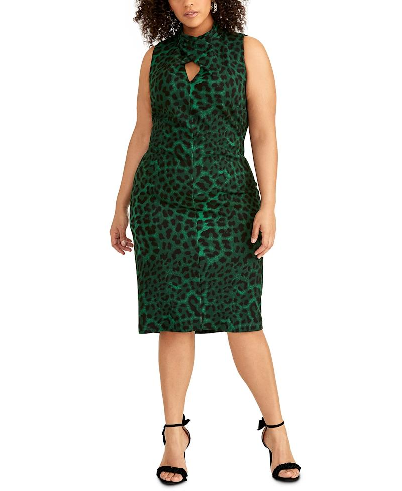 RACHEL Rachel Roy Twisted Animal Print Sheath Dress. (Photo: Macy's)