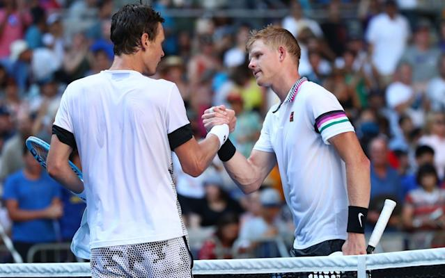 Edmund appeared hampered by his knee injury as he succumbed to Berdych in Melbourne - Getty Images AsiaPac