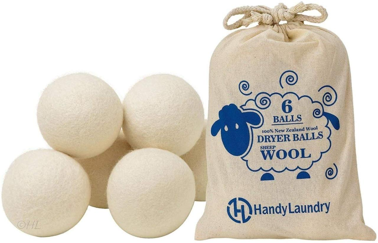 "<p>Kiss dryer sheets goodbye with these <a href=""https://www.popsugar.com/buy/Wool-Dryer-Balls-546561?p_name=Wool%20Dryer%20Balls&retailer=amazon.com&pid=546561&price=7&evar1=moms%3Aus&evar9=45965662&evar98=https%3A%2F%2Fwww.popsugar.com%2Ffamily%2Fphoto-gallery%2F45965662%2Fimage%2F47181049%2FWool-Dryer-Balls&list1=shopping%2Camazon%2Cenvironment&prop13=api&pdata=1"" rel=""nofollow"" data-shoppable-link=""1"" target=""_blank"" class=""ga-track"" data-ga-category=""Related"" data-ga-label=""https://www.amazon.com/Wool-Dryer-Balls-Alternative-Softener/dp/B014WOWNAY/ref=sr_1_7?keywords=reusable+products&amp;qid=1580854515&amp;sr=8-7"" data-ga-action=""In-Line Links"">Wool Dryer Balls</a> ($7).</p>"