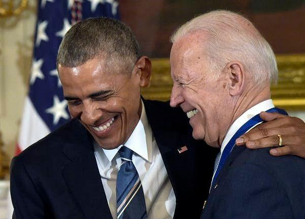 Former US President Barack Obama and Democrat Presidential Candidate Joe Biden
