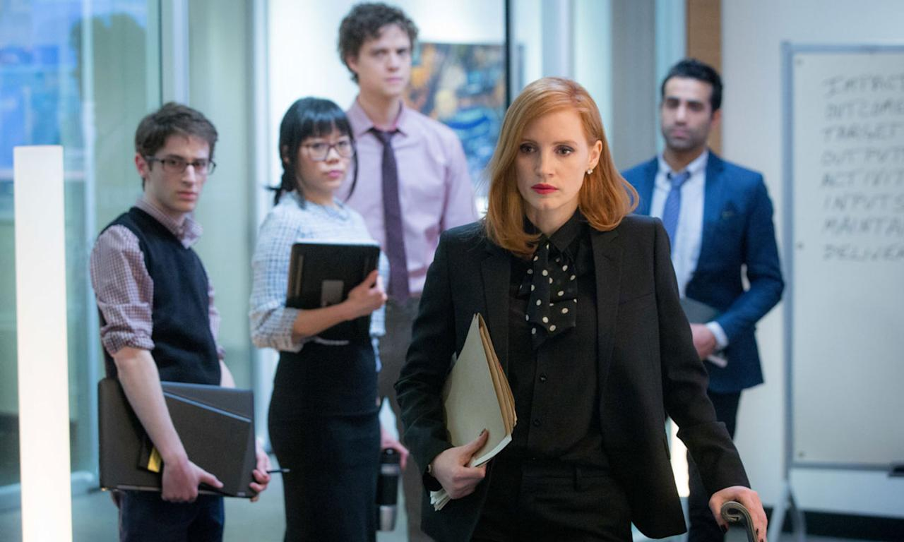 "<p>'Miss Sloane' is a razor sharp, intricately plotted and relentlessly paced political thriller, held together by a compelling performance from Jessica Chastain as a lobbyist who's always three steps ahead. It's a fantastic character study, with the most satisfying conclusion of any of the movies I saw this year. – <i><a rel=""nofollow"" href=""https://twitter.com/morelandwriter"">Alex Moreland</a></i>. (eOne) </p>"