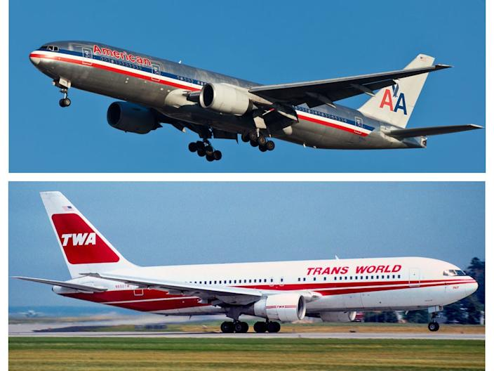 American Airlines and Trans World Airlines merger