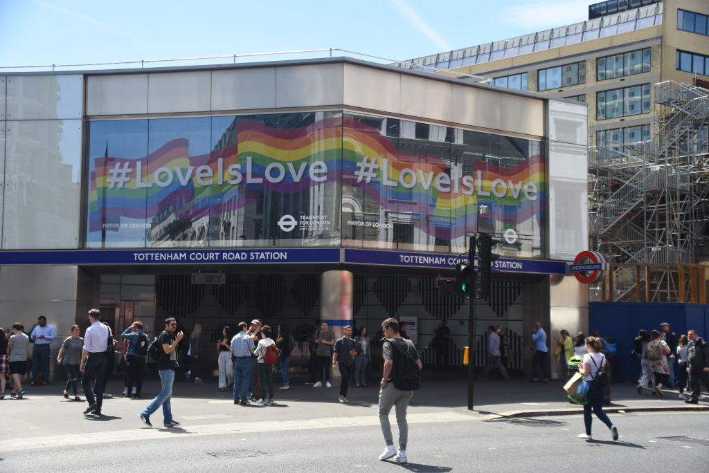 <p>The message was love as Pride celebrations started in London [Picture: Getty] </p>