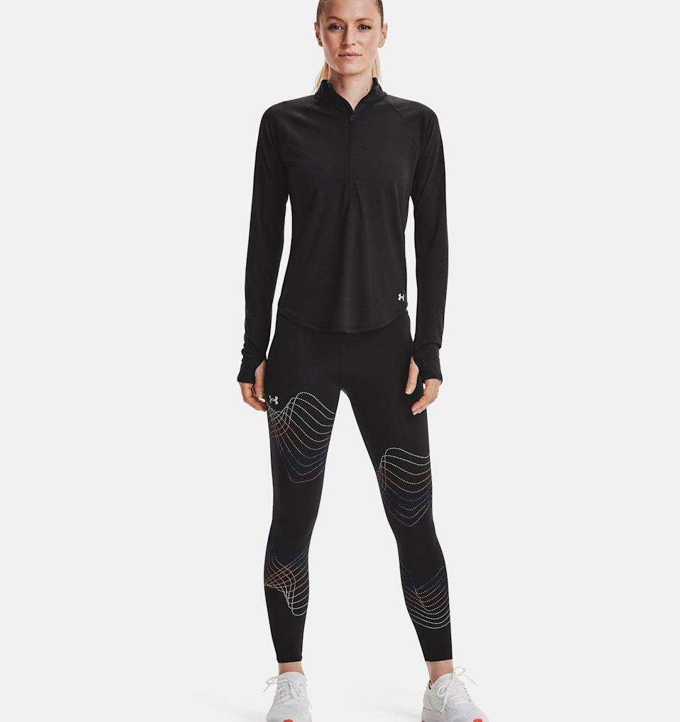 <p>Sick of sticking your phone in your sports bra or in an armband that always comes undone? With the <span>UA Speedpocket Dot 7/8 Tights</span> ($85), the only time you'll ever have to mess with your phone mid-workout is if you want to turn up the music. These leggings are equipped with a water-resistant Speedpocket that's big enough to fit a plus-sized phone but secure enough that it won't bounce around with every step.</p>