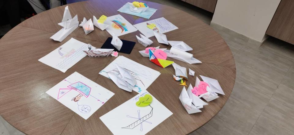 Some of the boats created during a workshop. (Anshula Verma)