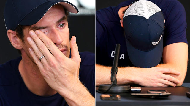 Andy Murray broke down. Image: Getty