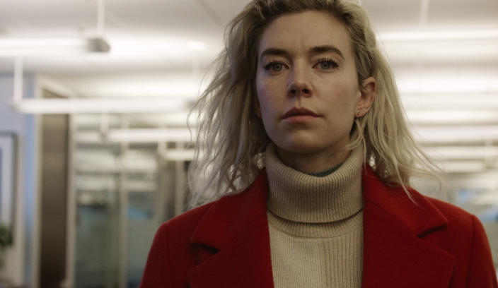 """This image released by Netflix shows Vanessa Kirby in a scene from """"Pieces of a Woman."""" (Benjamin Loeb/Netflix via AP)"""