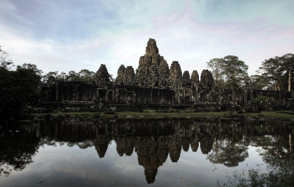A general view of the Bayon temple in Angkor Archeological Park in Siem Reap,Cambodia.