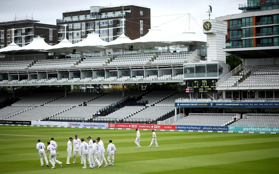 The 2 sides take to the field during Day 5 of the Bob Willis Trophy Final between Somerset and Essex at Lord's Cricket Groun - Getty Images