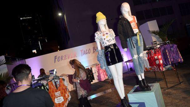 PHOTO: A Taco Bell pop up shop is seen at the fashion event in Los Angeles. (Regina Wu)