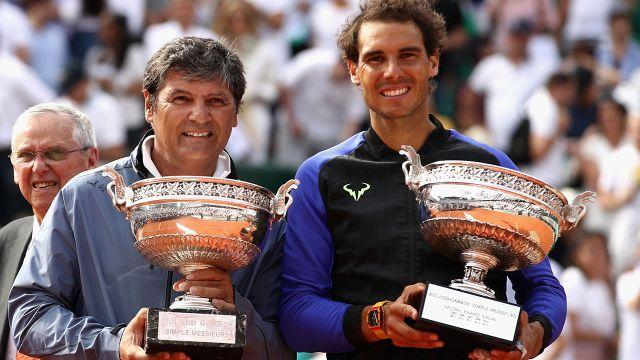 The dynamic duo at the French Open. Image: Getty