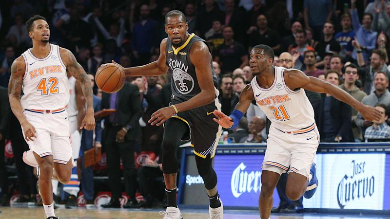 78a01a001f9 Vegas oddsmakers give another hint Knicks expected to get Kevin Durant