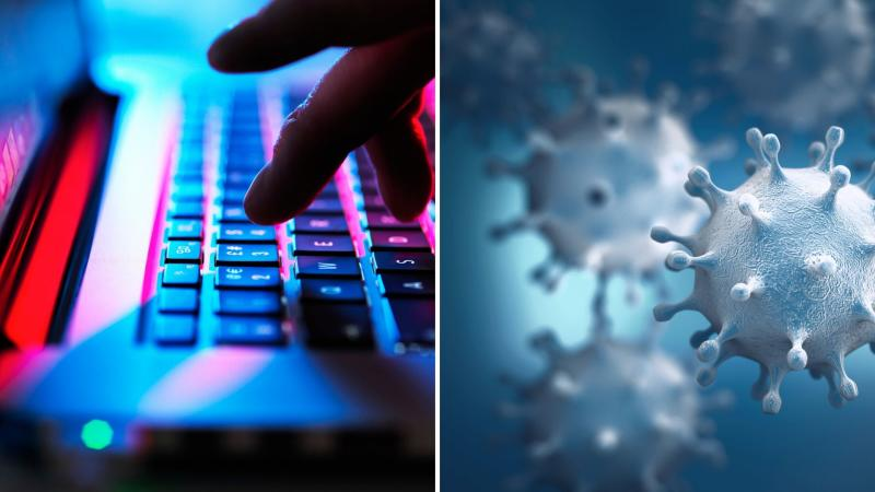 Coronavirus poses a risk to our cybersecurity. Images: Getty