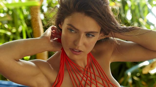 Bianca Balti was photographed by James Macari in Sumba Island. Swimsuit by MIKOH, top and bottom available at revolve.com.