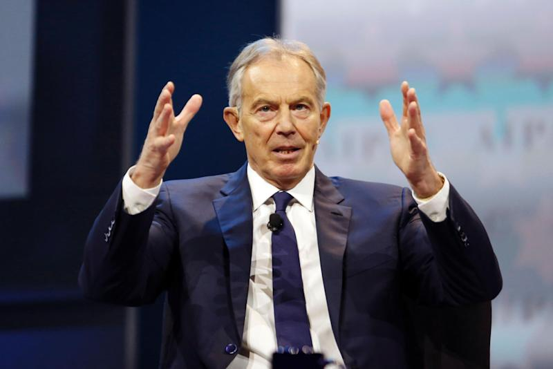 Tony Blair said French presidential candidate Emmanuel Macron should be an inspiration for Labour: Getty