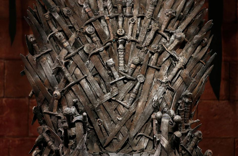 The Iron Throne is seen on the set of the television series Game of Thrones in the Titanic Quarter of Belfast, Northern Ireland, Picture taken June 24, 2014. REUTERS/Phil Noble