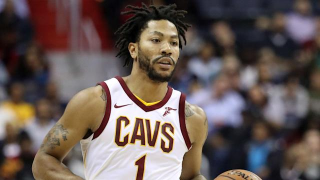 "<a class=""link rapid-noclick-resp"" href=""/nba/players/4387/"" data-ylk=""slk:Derrick Rose"">Derrick Rose</a> is in his first season with the Cavs. (AP)"