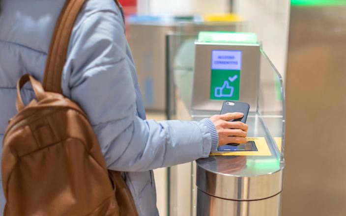 The MPs say e-gates should be capable of scanning an individual's tests to avoid long waits and overcrowding (Getty/iStockphoto)