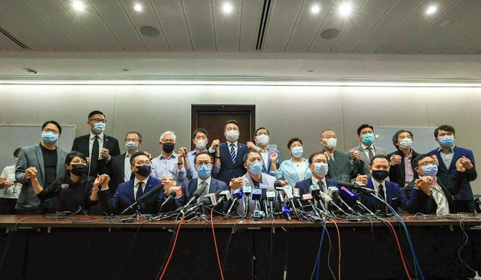All of the Legislative Council's pan-democratic members resigned en masse last year after four of their colleagues were ousted. Photo: May Tse