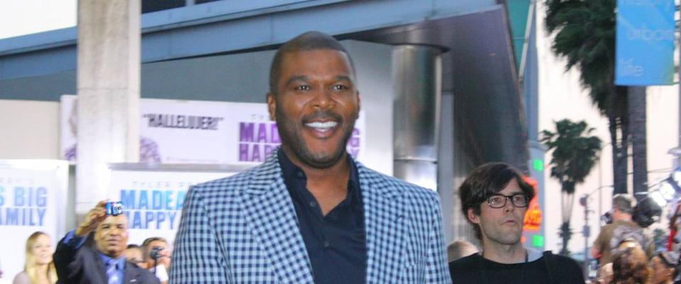 HOLLYWOOD - APRIL 19: Director/actor Tyler Perry at the premiere of his new movie Madea's Big Happy Family at the Arclight Cinerama Dome April 19, 2011 Hollywood, CA.