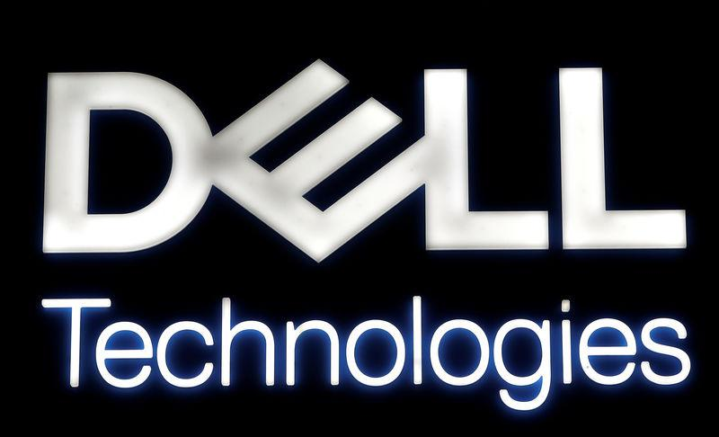 Logo of Dell Technologies is seen at the Mobile World Congress in Barcelona