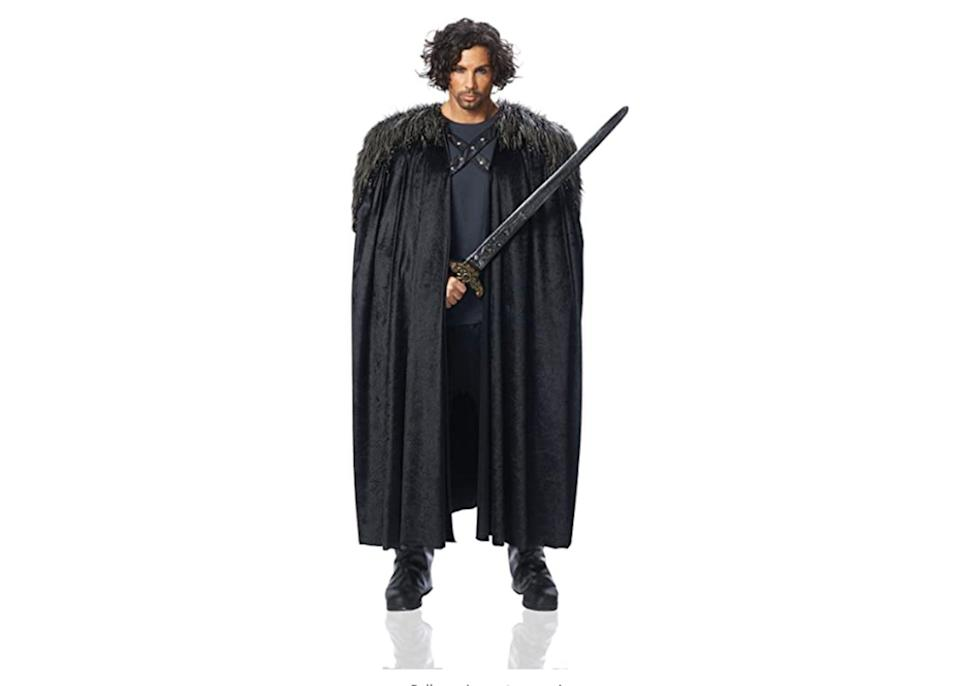 """<p><strong>Costume Culture</strong></p><p>amazon.com</p><p><strong>$42.29</strong></p><p><a href=""""https://www.amazon.com/dp/B00L4YKO20?tag=syn-yahoo-20&ascsubtag=%5Bartid%7C2141.g.37159701%5Bsrc%7Cyahoo-us"""" rel=""""nofollow noopener"""" target=""""_blank"""" data-ylk=""""slk:Shop Now"""" class=""""link rapid-noclick-resp"""">Shop Now</a></p><p>Daenerys Targaryen, Jon Snow, Tormund—the gangs all here. So round up your own squad and pick your favorite <em>Game of Thrones</em> character to dress up as. And don't forget to add props and accessories to make each costume come to life, such as <a href=""""https://www.amazon.com/Game-Thrones-Replica-Sword-Standard/dp/B074MJ5Q7D/ref=asc_df_B074MJ5Q7D/?tag=syn-yahoo-20&ascsubtag=%5Bartid%7C2141.g.37159701%5Bsrc%7Cyahoo-us"""" rel=""""nofollow noopener"""" target=""""_blank"""" data-ylk=""""slk:Jon's sword"""" class=""""link rapid-noclick-resp"""">Jon's sword</a>, <a href=""""https://go.redirectingat.com?id=74968X1596630&url=https%3A%2F%2Fwww.halloweencostumes.com%2Fadorable-dragon-infant-costume.html&sref=https%3A%2F%2Fwww.prevention.com%2Flife%2Fg37159701%2Fbest-group-halloween-costumes%2F"""" rel=""""nofollow noopener"""" target=""""_blank"""" data-ylk=""""slk:Dany's dragons"""" class=""""link rapid-noclick-resp"""">Dany's dragons</a>, and <a href=""""https://go.redirectingat.com?id=74968X1596630&url=https%3A%2F%2Fwww.halloweencostumes.com%2Fantique-gold-leaf-circlet.html&sref=https%3A%2F%2Fwww.prevention.com%2Flife%2Fg37159701%2Fbest-group-halloween-costumes%2F"""" rel=""""nofollow noopener"""" target=""""_blank"""" data-ylk=""""slk:Sansa's crown"""" class=""""link rapid-noclick-resp"""">Sansa's crown</a>. </p><p><a class=""""link rapid-noclick-resp"""" href=""""https://www.amazon.com/dp/B07CWM37XW?tag=syn-yahoo-20&ascsubtag=%5Bartid%7C2141.g.37159701%5Bsrc%7Cyahoo-us"""" rel=""""nofollow noopener"""" target=""""_blank"""" data-ylk=""""slk:SHOP DAENERYS TARGARYEN"""">SHOP DAENERYS TARGARYEN</a></p><p><a class=""""link rapid-noclick-resp"""" href=""""https://go.redirectingat.com?id=74968X1596630&url=https%3A%2F%2Fwww.spirithalloween.com%2Fproduct%2Fadult%2Fshop-by-character"""