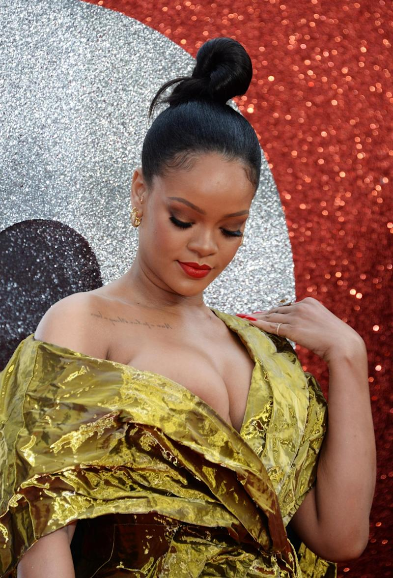 Revealing: Rihanna on the red carpet in London (Dave Benett)