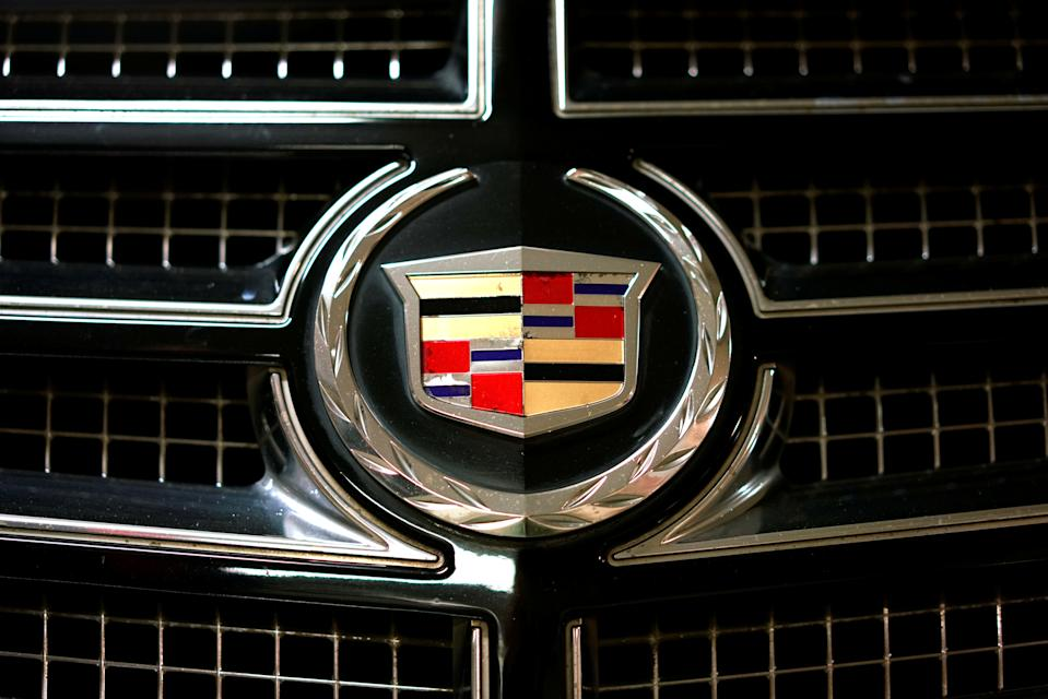 A view shows the logo of Cadillac on a car in Moscow, Russia, July 6, 2016. REUTERS/Maxim Zmeyev