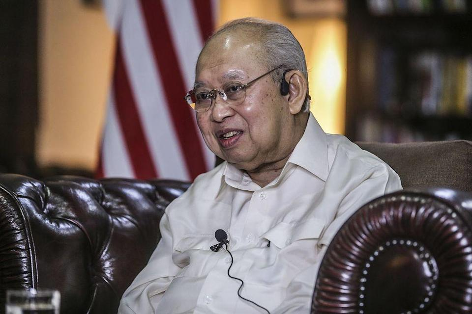 Gua Musang MP, Tengku Razaleigh Hamzah speaking during an interview with the National Professor Council, December 24, 2020. — Picture by Hari Anggara