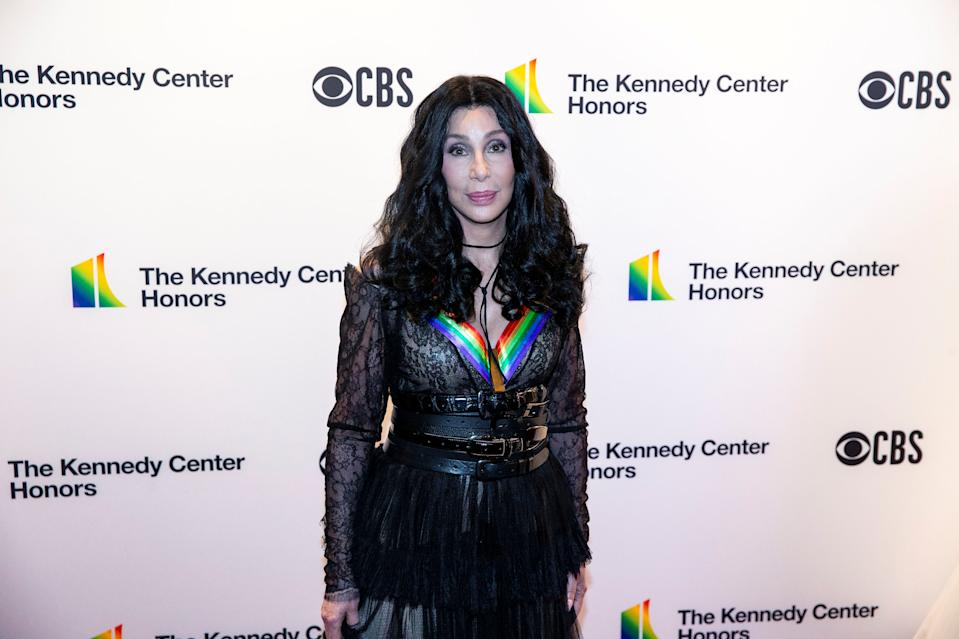 2018 Kennedy Center Honoree singer and actor Cher, 72, poses for a photograph on the red carpet before the 41st Annual Kennedy Center Honors at The Kennedy Center in Washington, U.S., December 2, 2018. REUTERS/Al Drago