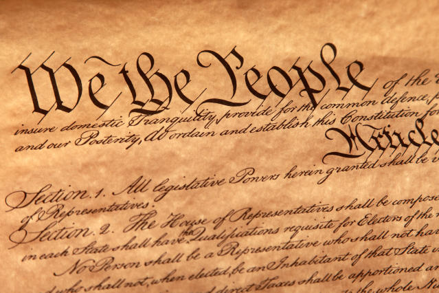 Yes, the U.S. Constitution guarantees First Amendment protections for Muslims, atheists and all religious groups. (doublediamondphoto via Getty Images)