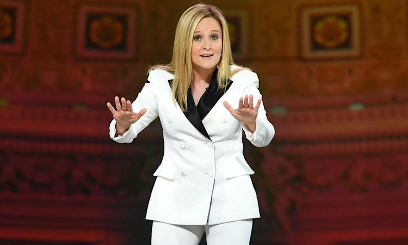Samantha Bee speaks onstage during Not The White House Correspondents' Dinner in Washington.