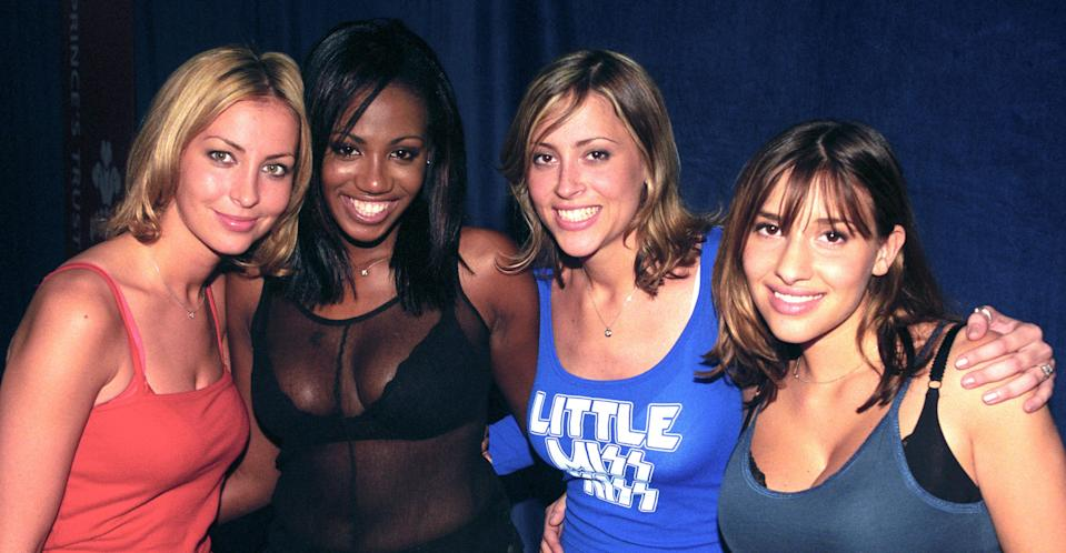 Nicole Appleton (second from right) with her fellow All Saints members in 1998. (PA Images)