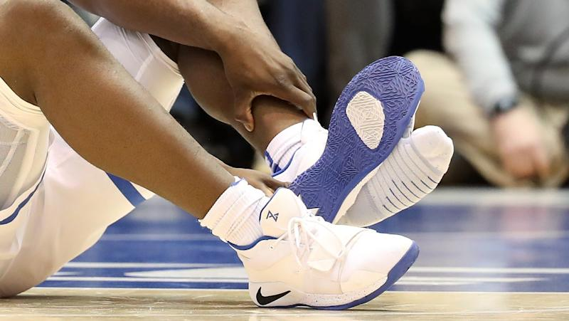 0bbfab04d421 Nike  working to identify issue  that caused Zion Williamson s shoe to blow  out