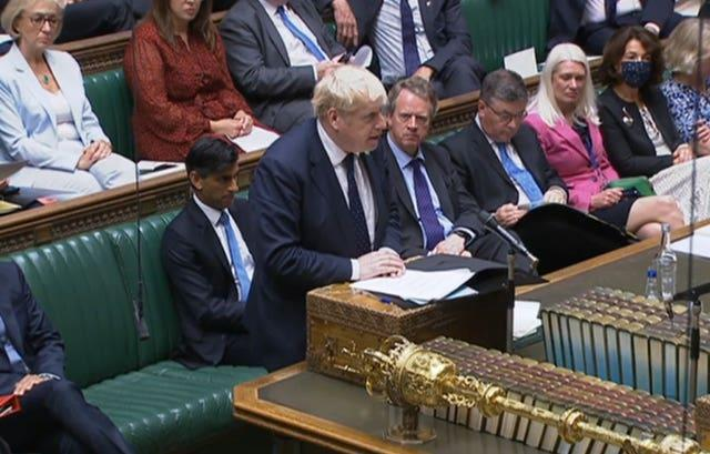Prime Minister Boris Johnson told the Commons the plans were