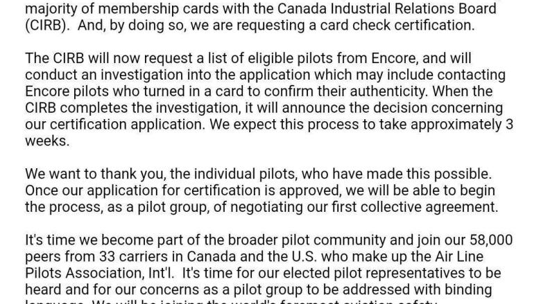 WestJet Encore pilots unionize and flight attendants could be next
