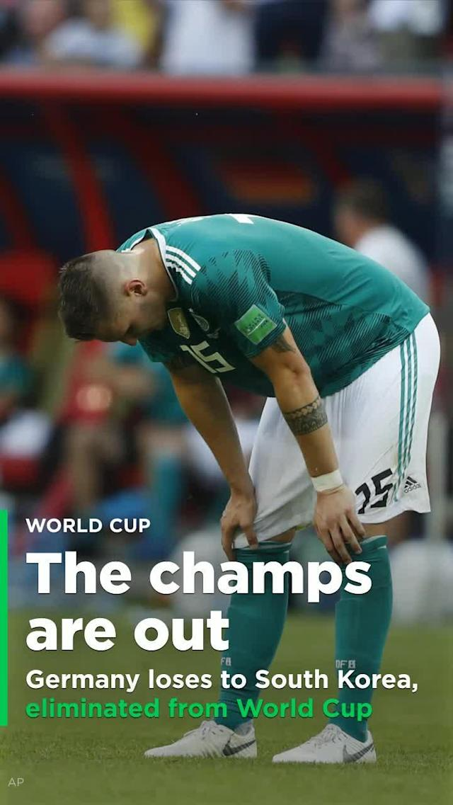 For the third consecutive men's World Cup, the defending champs have been eliminated after three games. In 2010 it was Italy, and four years ago Spain. On Wednesday, it was Germany, in shockingly punchless fashion.