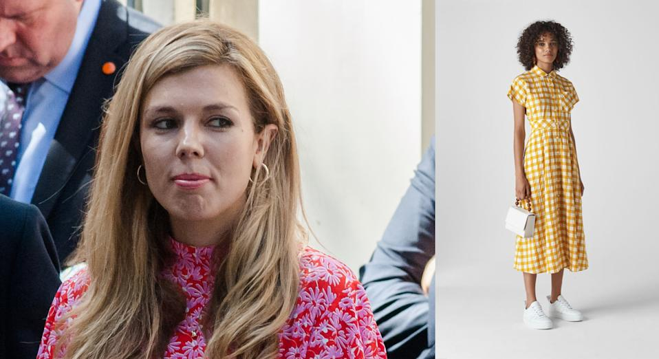 Carrie Symonds often opts for surprisingly affordable pieces [Photo: Getty Images]