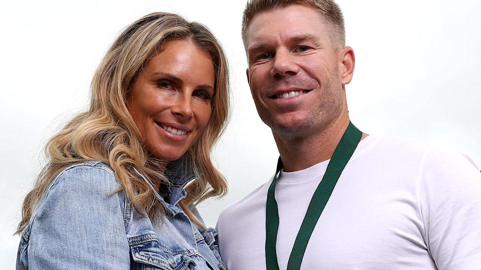 David and Candice Warner, pictured here after the Australian Cricket Awards in 2019.