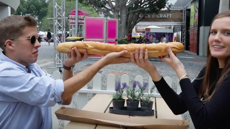 When had major nerves when trying to tackle the 2ft Hot Dog. Source: Be