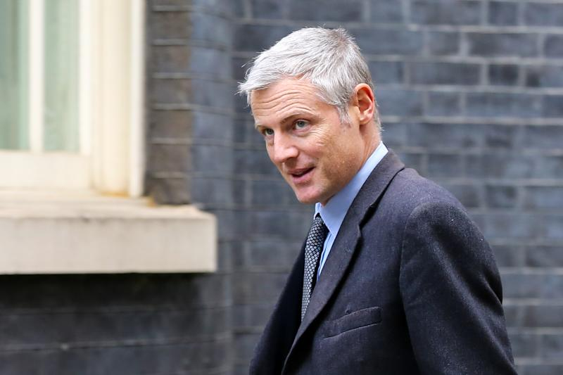 Zac Goldsmith, Minister of State for Environment, Food and Rural Affairs and Department for International Development arrives at Downing Street to attend the weekly cabinet meeting before the European Union summit on 17 and 18 October. The European Council will discuss a number of important issues, including Brexit. (Photo by Steve Taylor / SOPA Images/Sipa USA)